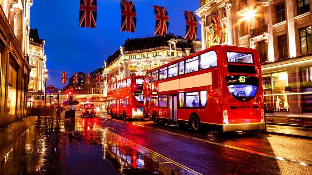 London Bus wallpaper