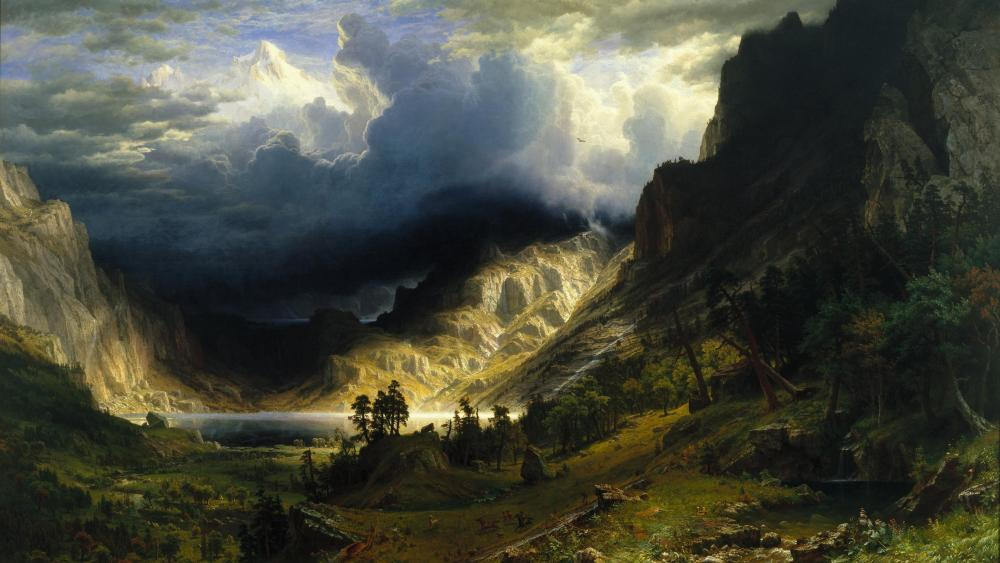 A Storm in the Rocky Mountains, Mt. Rosalie wallpaper