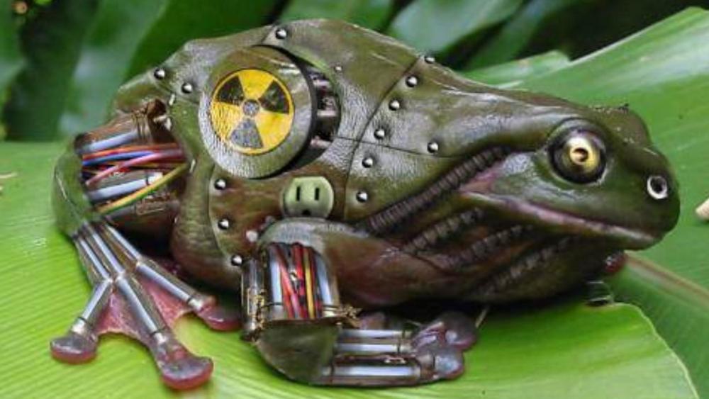 Mechanical radioactive frog ☢️ wallpaper