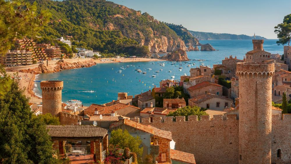Summer in Tossa de Mar, Spain wallpaper