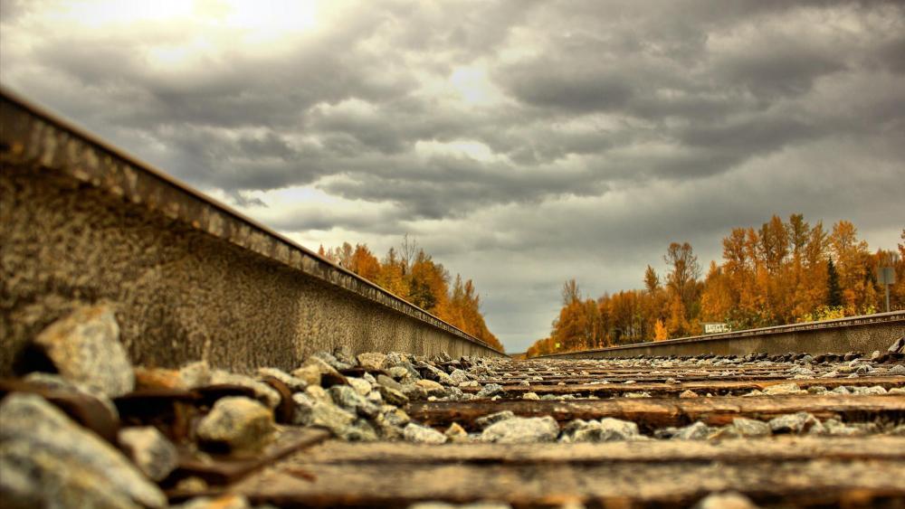 Long rails in Alaska wallpaper