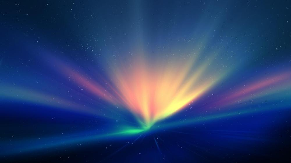 Rays of light - Colorful digital art ✨ wallpaper