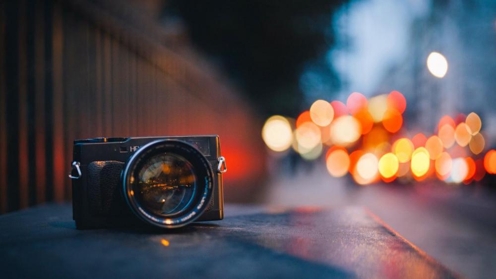Camera on the street  wallpaper