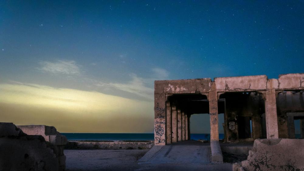 Starry night sky above Basra, Iraq ⭐️ wallpaper