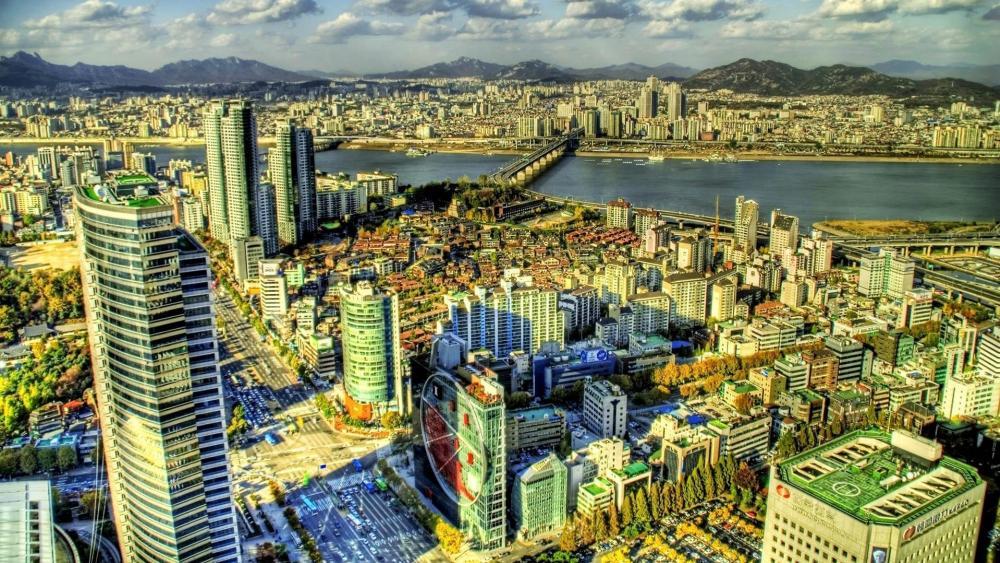 Cityscape of Seoul wallpaper