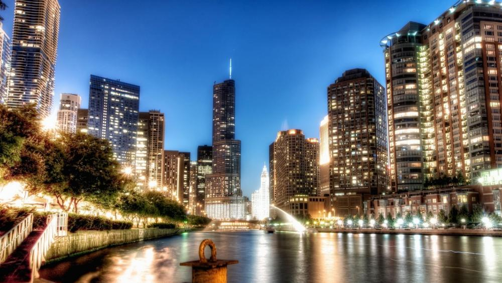 Chicago metropolitan area wallpaper