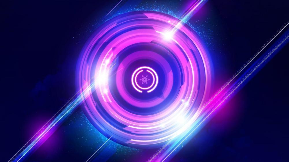Purple circles digital art wallpaper