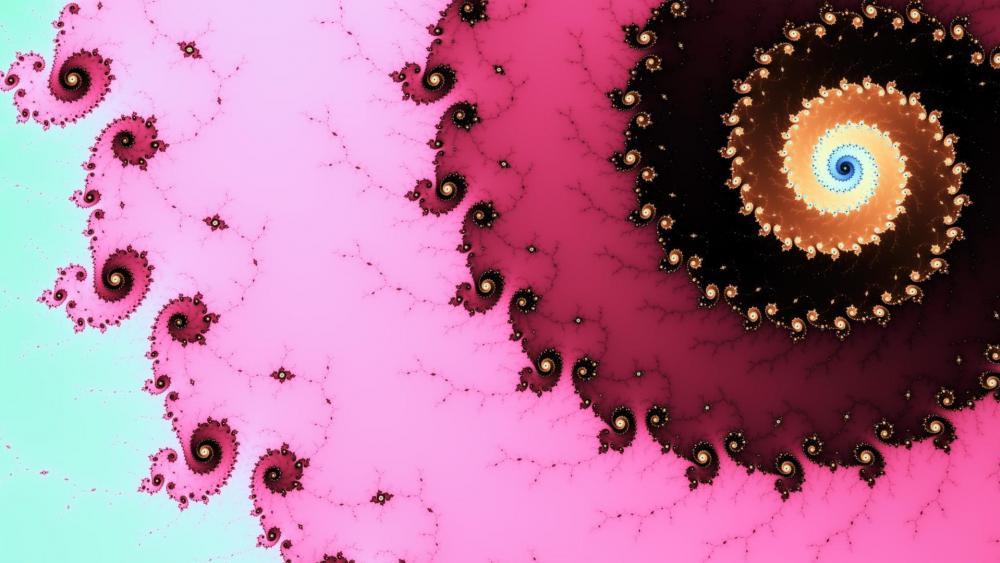Pink fractal wallpaper