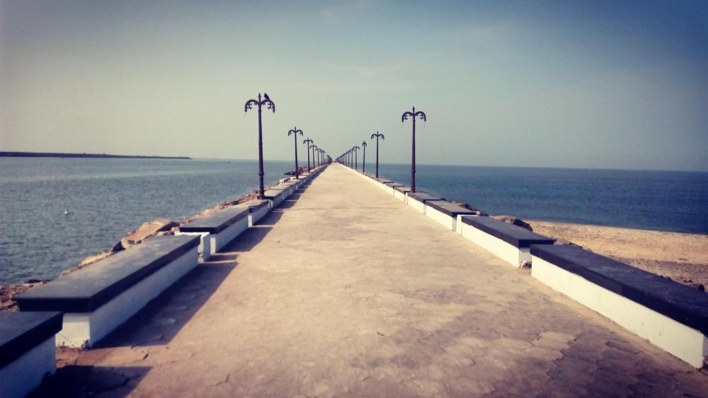 sea bridge wallpaper