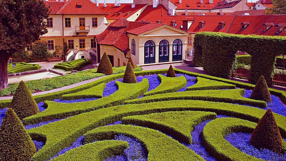 Vrtbovska Garden in Prague, Czech Republic wallpaper