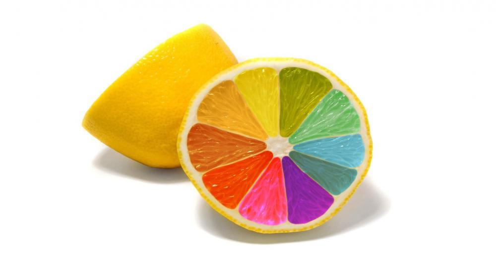 Colorful lemon wallpaper