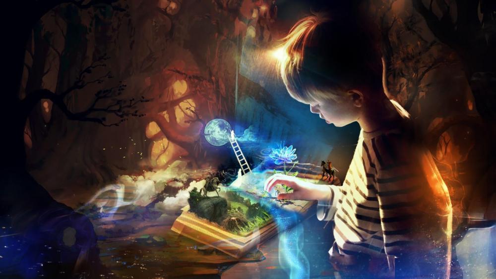 Reading imagination wallpaper