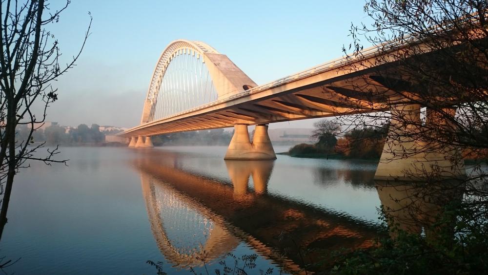 Humber Bay Arch Bridge, Toronto, Canada wallpaper