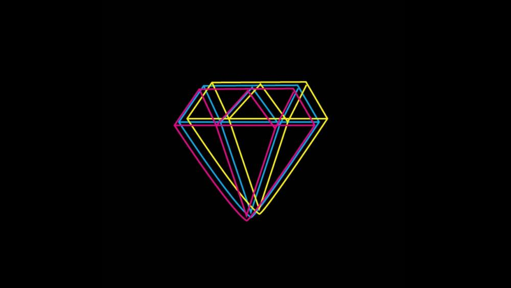 Neon Diamond wallpaper