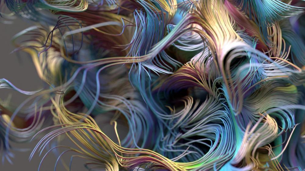 3D colorful fractal art wallpaper