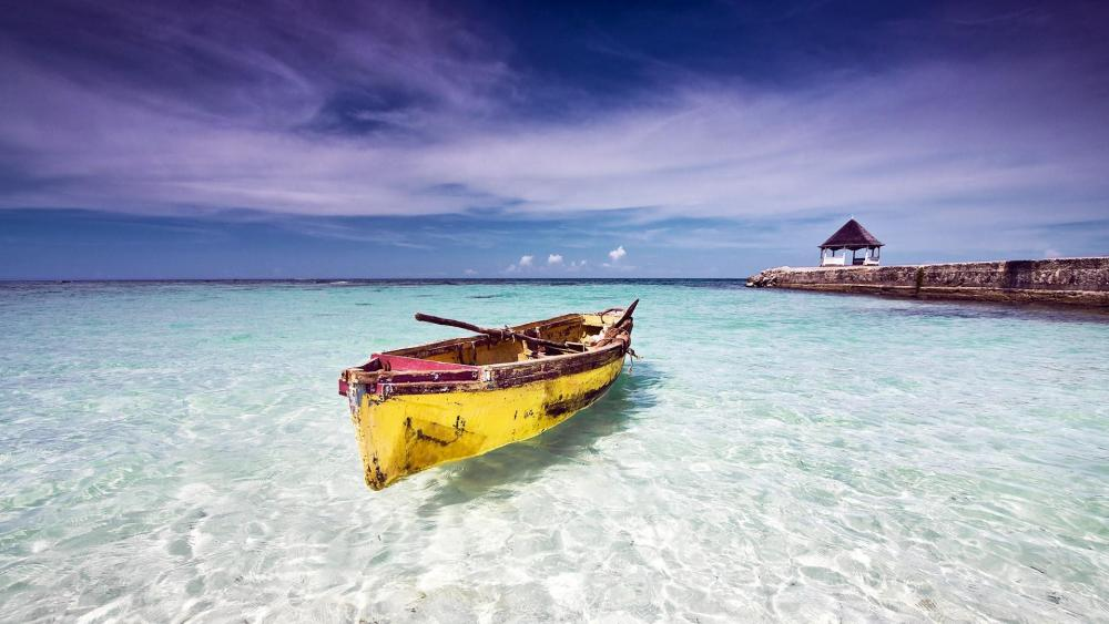 Caribbean seaside in Jamaica wallpaper