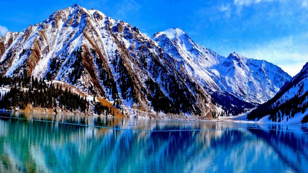 Big Almaty Lake in Kazakhstan wallpaper