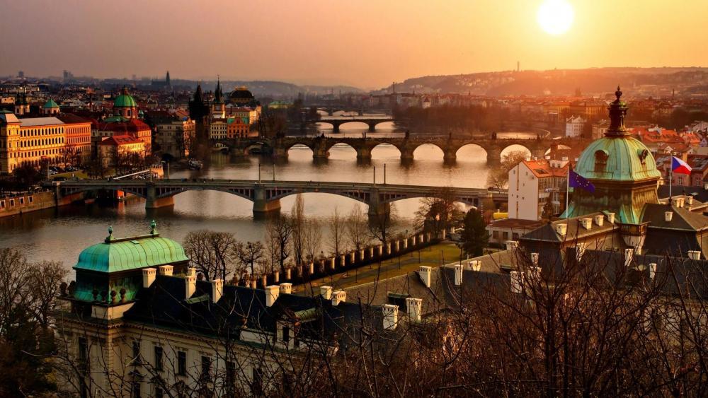 Prague cityscape - Czech Republic wallpaper