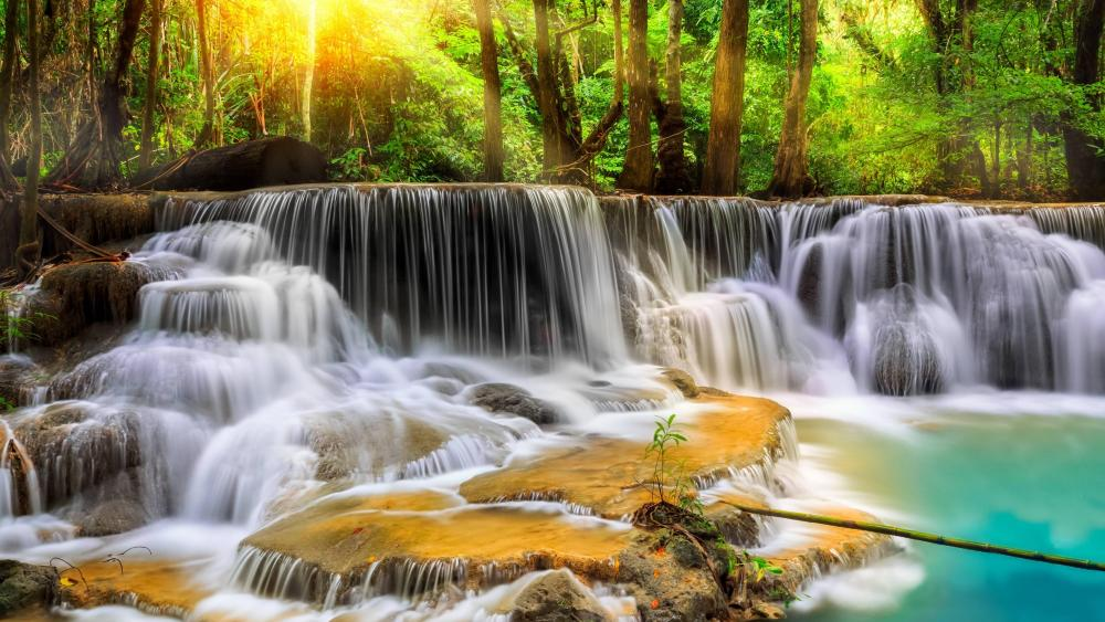 Erawan waterfall -Thailand wallpaper