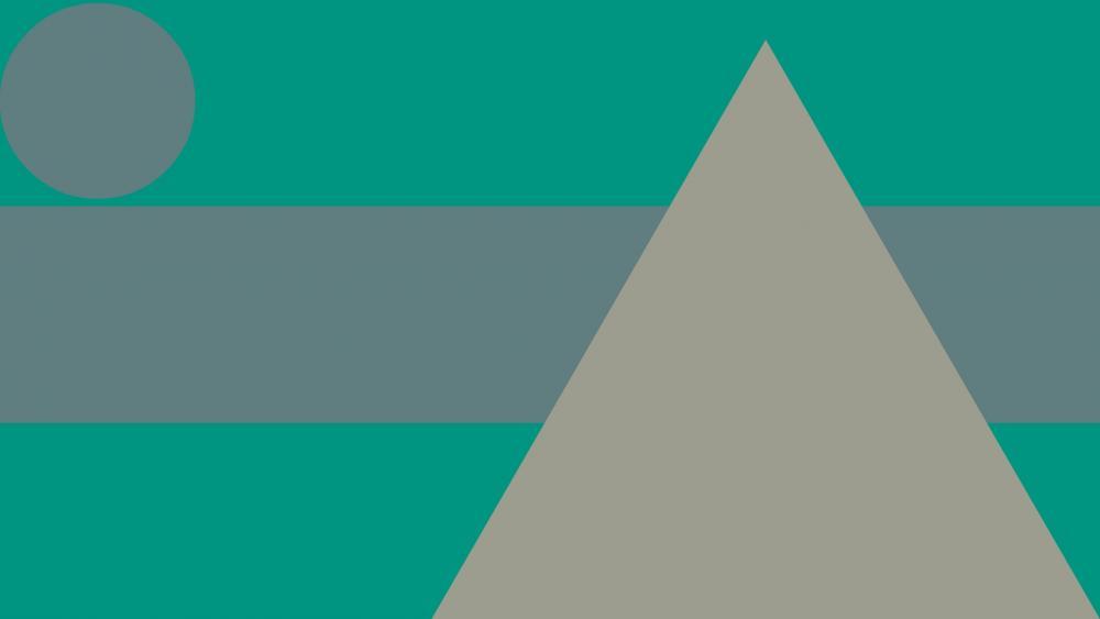 Green and gray material design wallpaper