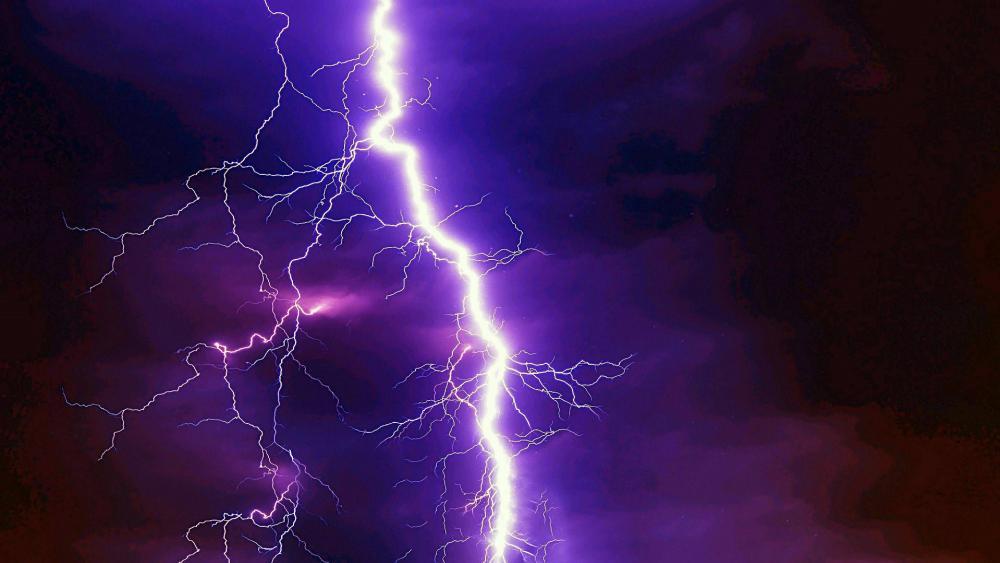 Lightning on the dark sky ️ wallpaper
