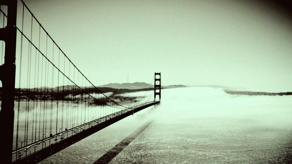 Golden Gate Bridge - Monochrome photography wallpaper
