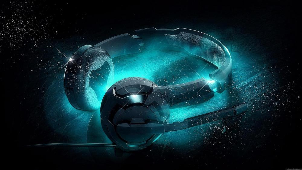 Cool headphones - Digital art wallpaper
