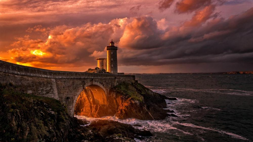 Phare du Petit Minou lighthouse, France wallpaper