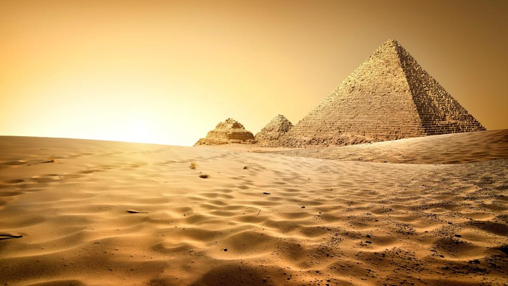 Great Pyramid of Giza - Giza, Cairo, Egypt wallpaper
