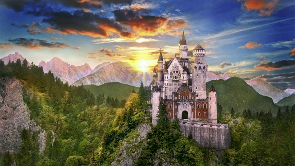 Neuschwanstein Castle and Hohenschwangau Valley - Germany wallpaper