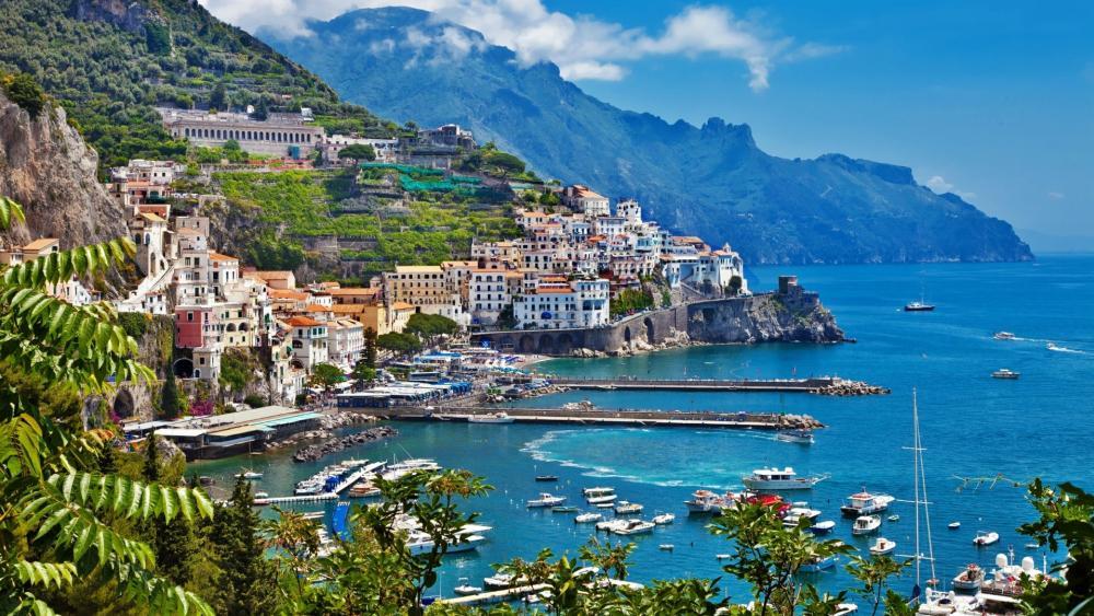 Amalfi coast landscape wallpaper
