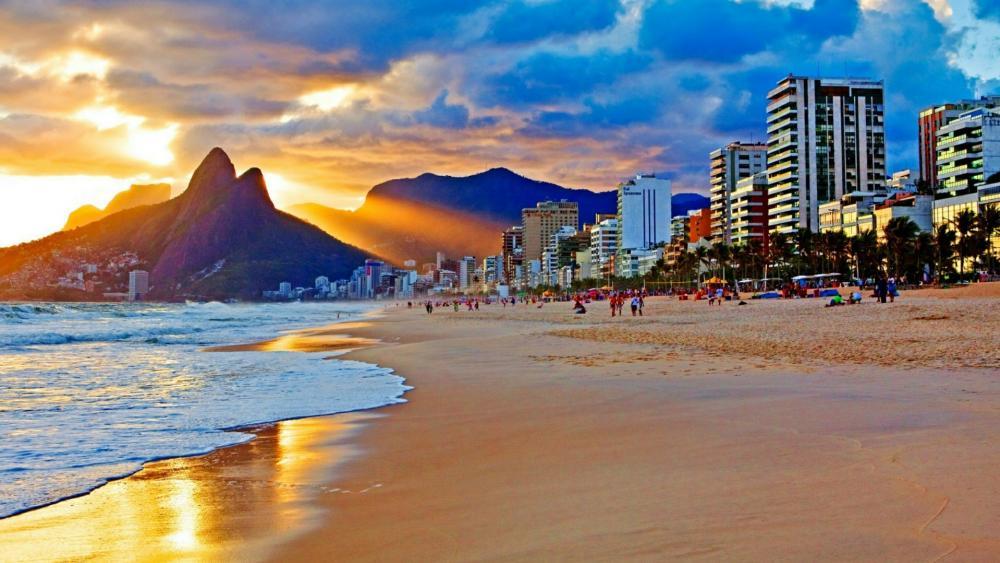 Copacabana beach wallpaper