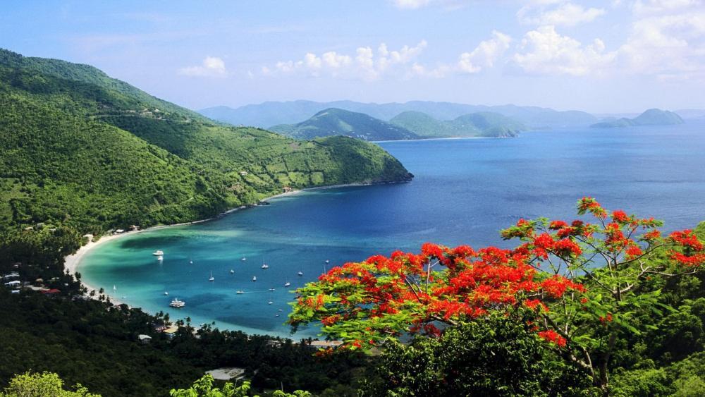 Tortola view, British Virgin Islands wallpaper