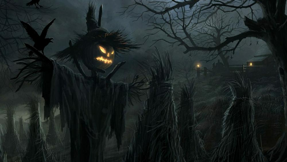 Halloween scarecrow wallpaper