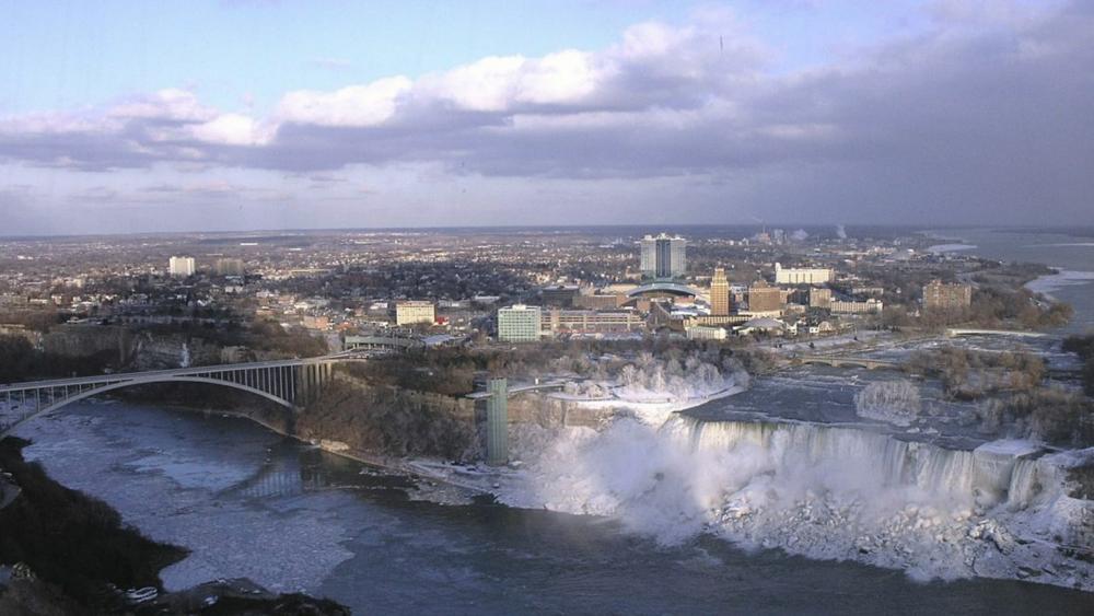 Niagara Falls view from Skylon Tower - Ontario, Canada wallpaper