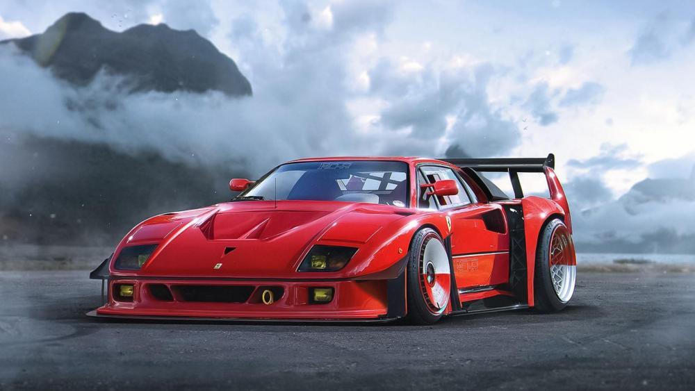 Ferrari F40 supercar wallpaper