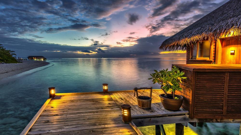 Romantic Maldive Islands wallpaper