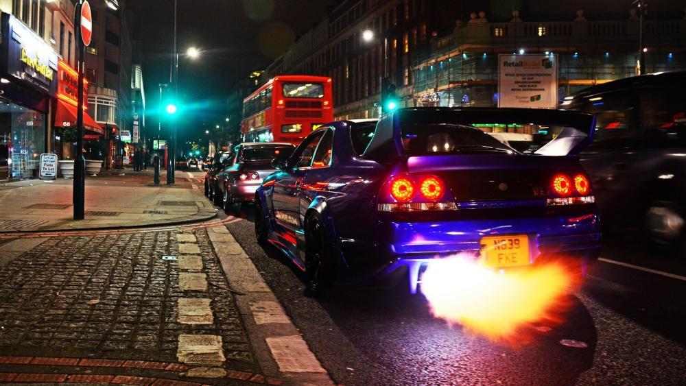 Nissan Skyline GTR R33 in London wallpaper