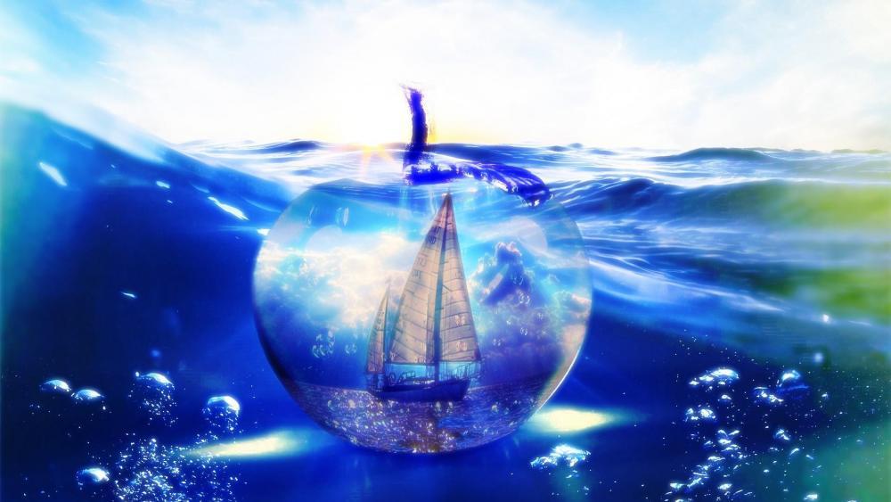 Water world - Fantasy art wallpaper
