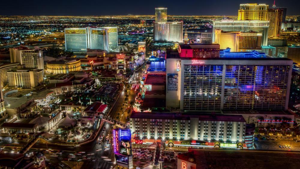 Las Vegas citylights at night ✨ wallpaper
