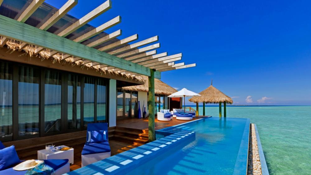 Vacation in Maldives wallpaper