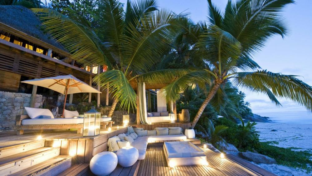 Seychelles paradise wallpaper