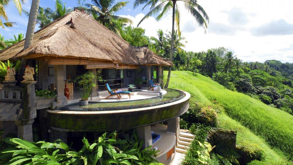 Panoramic view in Ubud, Bali wallpaper