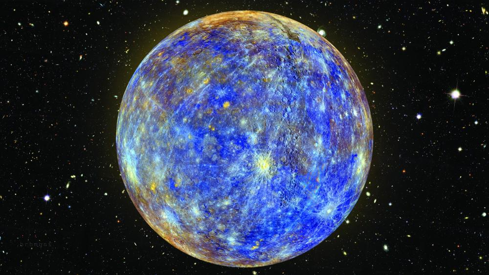 Mercury craters - MESSENGER Spacecraft wallpaper