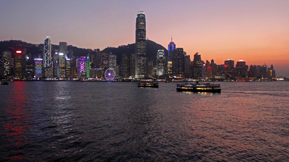 Hong-Kong sunset wallpaper