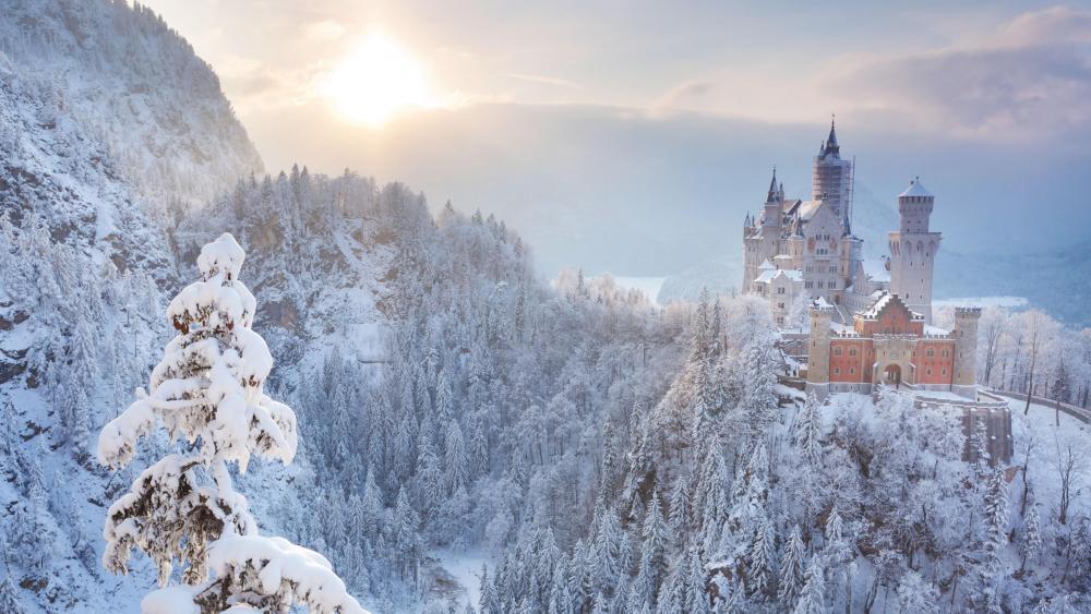Neuschwanstein Castle - A fairy tale castle winter  wallpaper