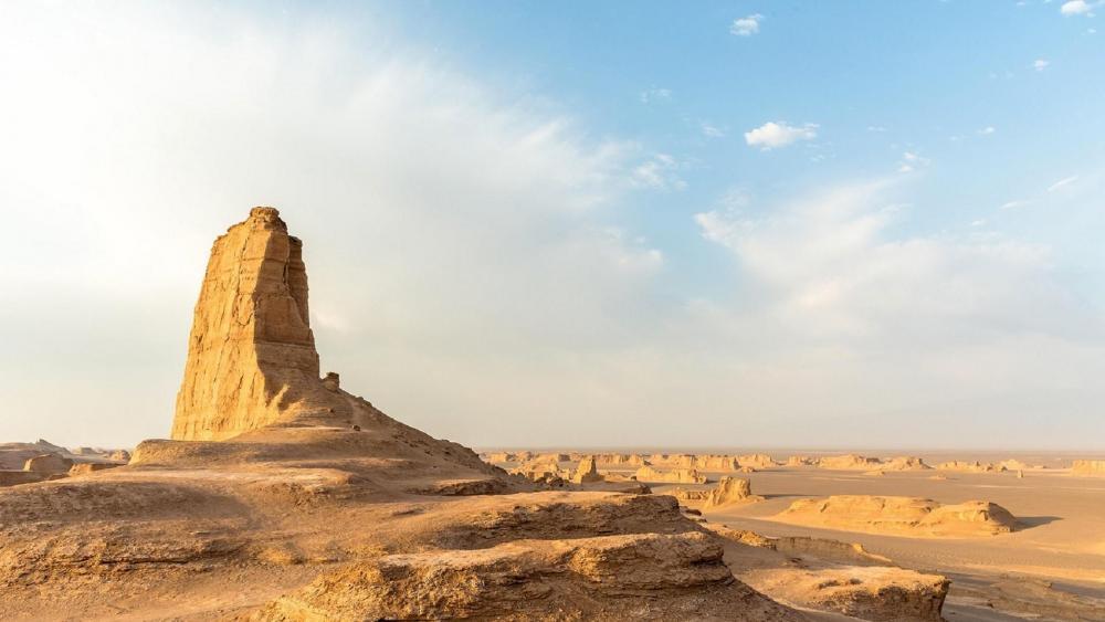 Dasht-e Lut Desert rock formations wallpaper
