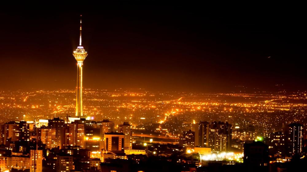 Milad Tower in Tehran, Tehran at night wallpaper