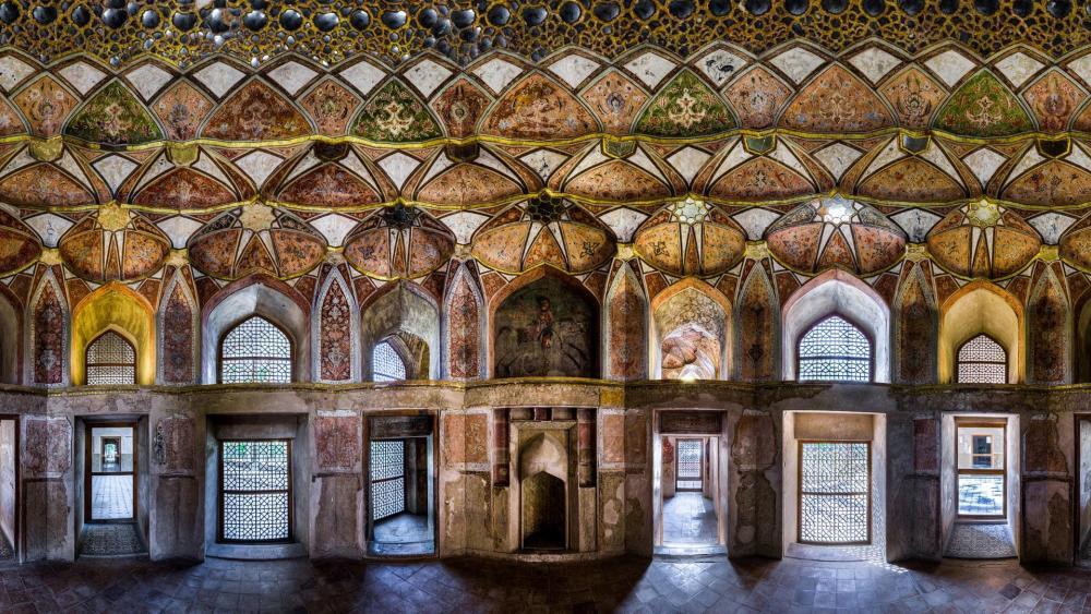 Palace of Hasht Behesht wallpaper