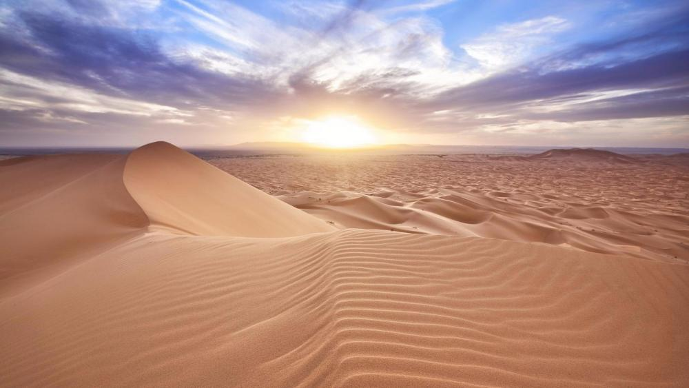 Sahara Desert sunrise - Africa wallpaper